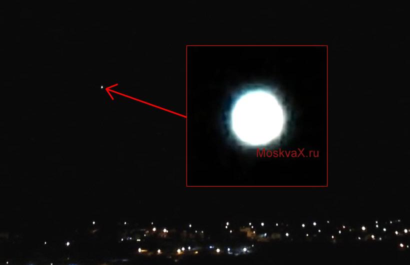 Яркий объект завис над посёлком Курилово 20 января 2017 года