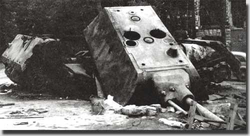 Танк подорван немцами